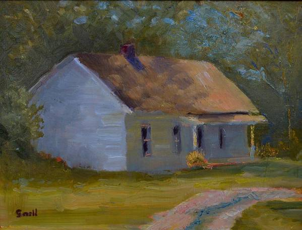 Kentucky Poster featuring the painting Tay's Cottage by Roger Snell