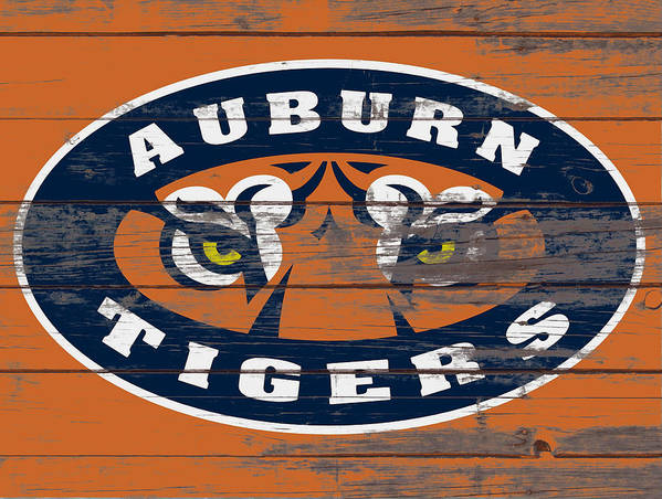 Auburn Tigers Poster featuring the mixed media The Auburn Tigers 5b by Brian Reaves