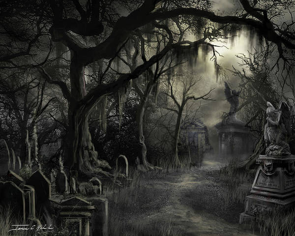 Cemetery Poster featuring the painting The Lost Cemetery by James Christopher Hill
