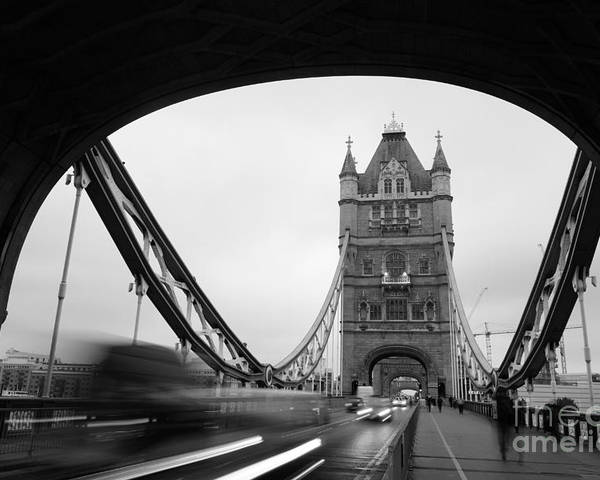 Britain Poster featuring the photograph Tower Bridge In London In United by Songquan Deng