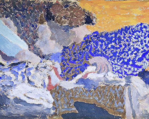 Edouard Vuillard Poster featuring the painting Two Seamstresses In The Workroom - Digital Remastered Edition by Edouard Vuillard