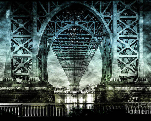 American Poster featuring the digital art Urban Grunge Collection Set - 06 by Az Jackson