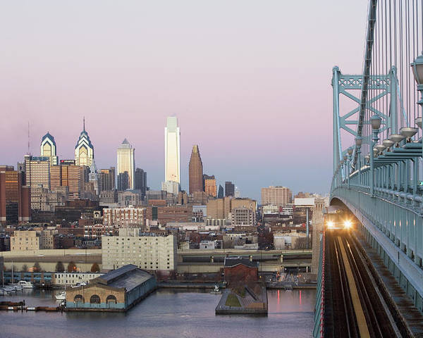 Downtown District Poster featuring the photograph Usa, Pennsylvania, Philadelphia, View by Fotog