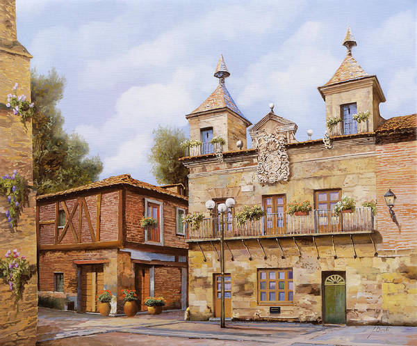 Spain Poster featuring the painting Valderas-spain by Guido Borelli