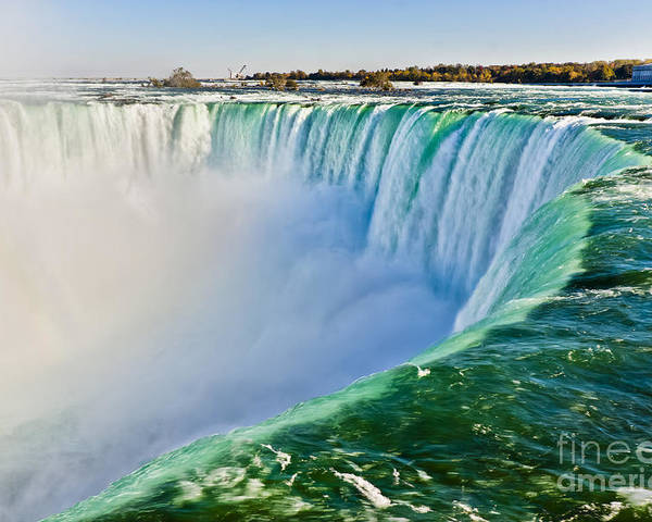 Wide Angle Poster featuring the photograph View From The Edge Of Niagara Falls by Christopher Gardiner