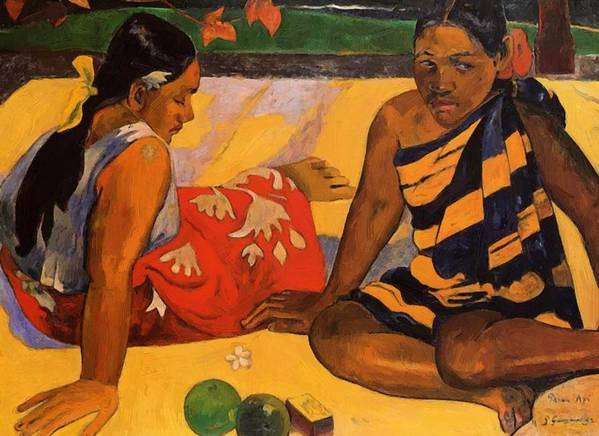 What Poster featuring the painting What New 1892 by Gauguin Paul