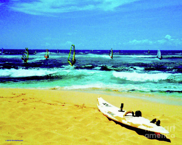 Windsurfing Poster featuring the photograph Windsurfing by Jerome Stumphauzer