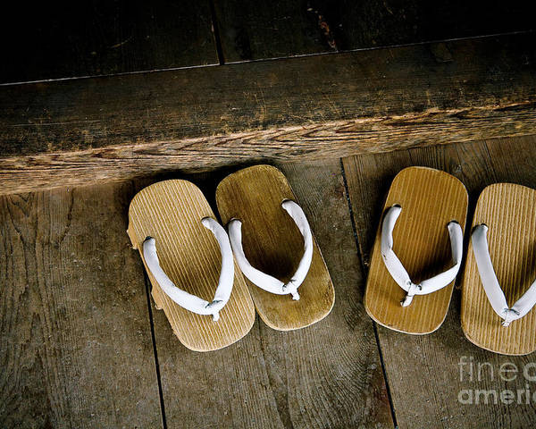 Feet Poster featuring the photograph Wood Sandals by Kenneth Dedeu
