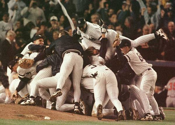 Celebration Poster featuring the photograph World Series 6 Yankees by Al Bello