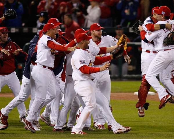 St. Louis Cardinals Poster featuring the photograph World Series Game 5 Detroit Tigers V by Dilip Vishwanat