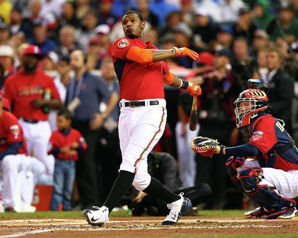 American League Baseball Poster featuring the photograph Adam Jones by Elsa