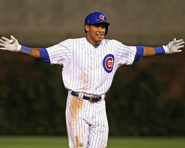 Three Quarter Length Poster featuring the photograph Addison Russell by Jonathan Daniel
