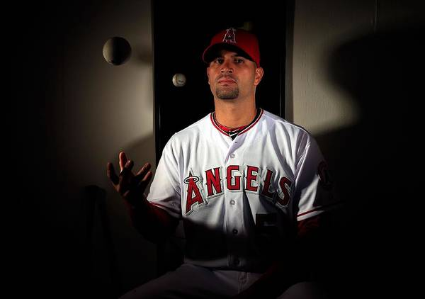 Media Day Poster featuring the photograph Albert Pujols by Jamie Squire