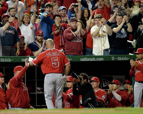 Crowd Poster featuring the photograph Albert Pujols by Patrick Smith