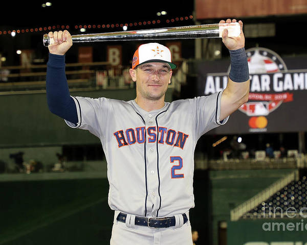 Alex Bregman Poster featuring the photograph Alex Bregman by Rob Carr