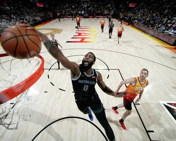 Nba Pro Basketball Poster featuring the photograph Andre Drummond by Melissa Majchrzak