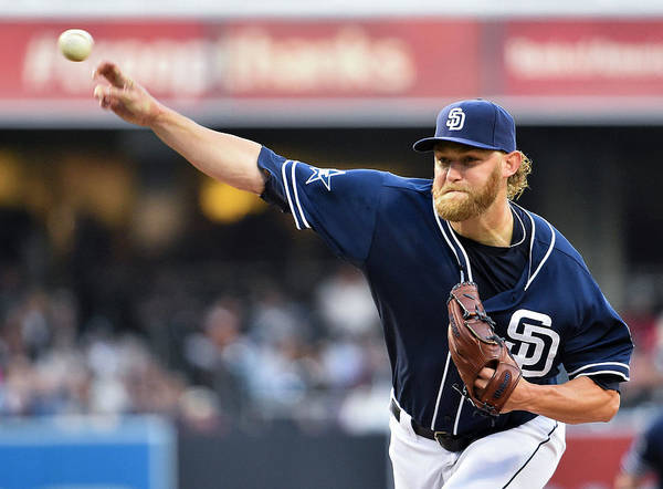California Poster featuring the photograph Andrew Cashner by Denis Poroy