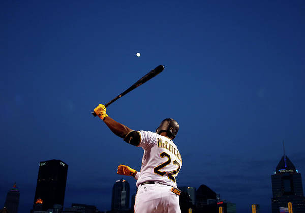 Andrew Mccutchen Poster featuring the photograph Andrew Mccutchen by Justin K. Aller