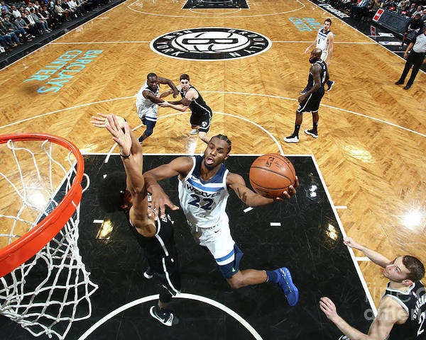 Nba Pro Basketball Poster featuring the photograph Andrew Wiggins by Nathaniel S. Butler