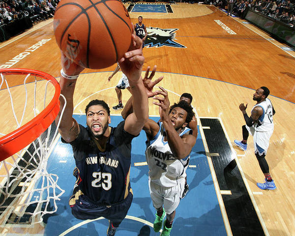 Nba Pro Basketball Poster featuring the photograph Anthony Davis by David Sherman