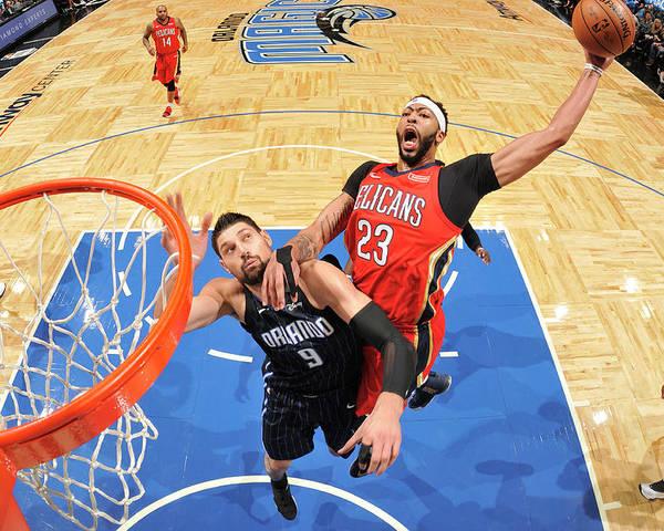 Nba Pro Basketball Poster featuring the photograph Anthony Davis by Fernando Medina