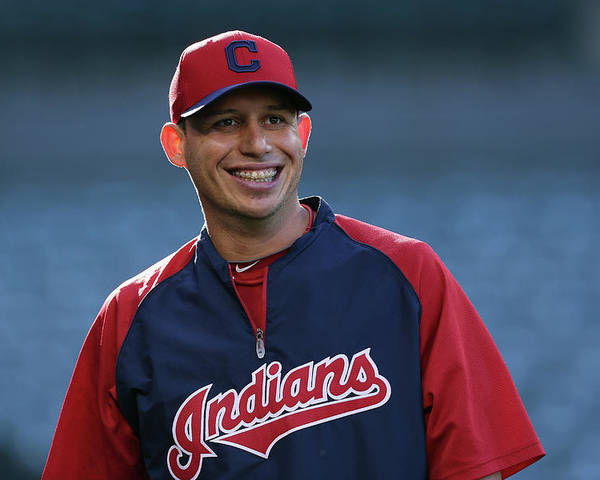 American League Baseball Poster featuring the photograph Asdrubal Cabrera by Jeff Gross