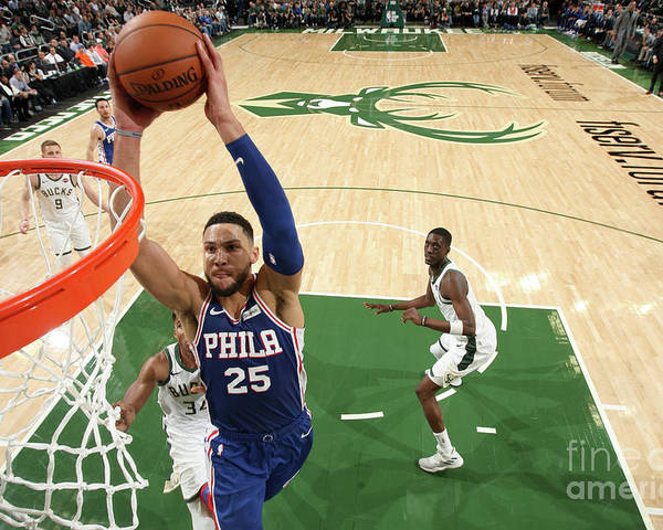 Nba Pro Basketball Poster featuring the photograph Ben Simmons by Gary Dineen