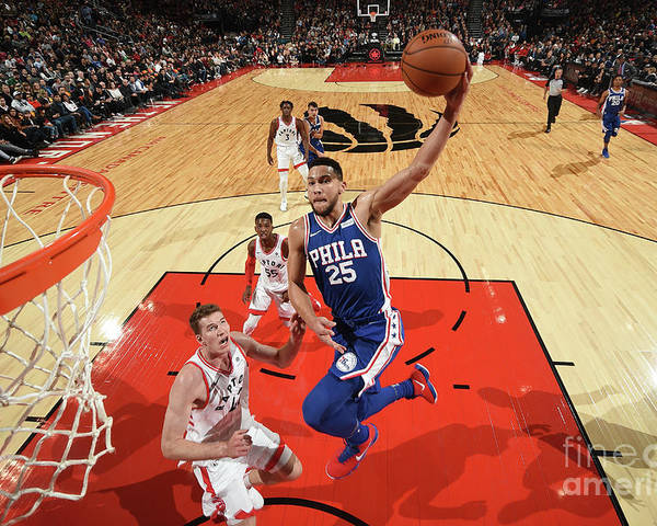 Nba Pro Basketball Poster featuring the photograph Ben Simmons by Ron Turenne