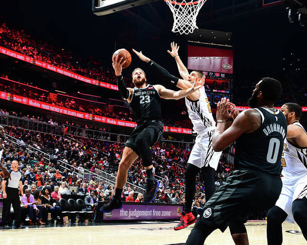 Atlanta Poster featuring the photograph Blake Griffin by Scott Cunningham