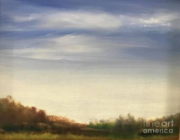 Blue Sky Landscape Poster featuring the painting Blue Sky by Sheila Mashaw
