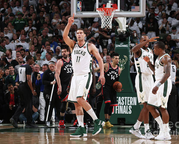 Playoffs Poster featuring the photograph Brook Lopez by Gary Dineen