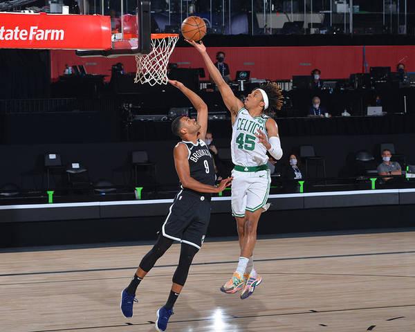 Nba Pro Basketball Poster featuring the photograph Brooklyn Nets v Boston Celtics by Bill Baptist