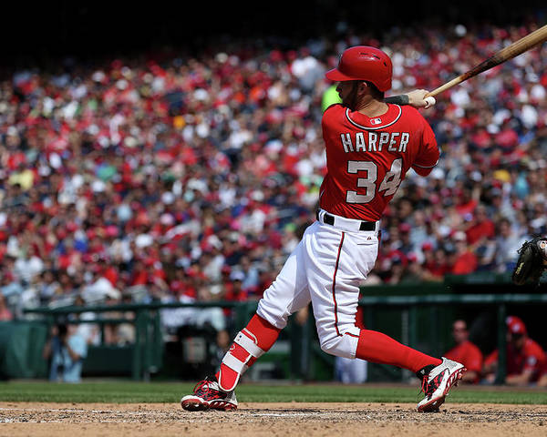 People Poster featuring the photograph Bryce Harper by Patrick Smith