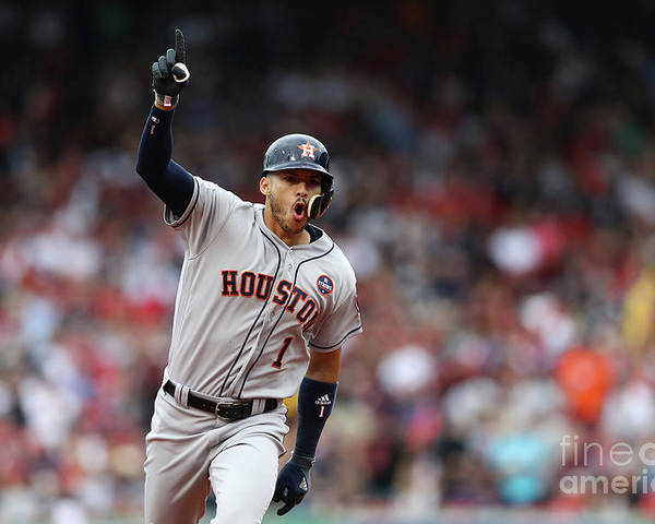 Three Quarter Length Poster featuring the photograph Carlos Correa by Elsa