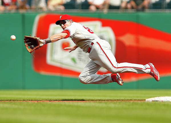 Second Inning Poster featuring the photograph Chase Utley by Jared Wickerham