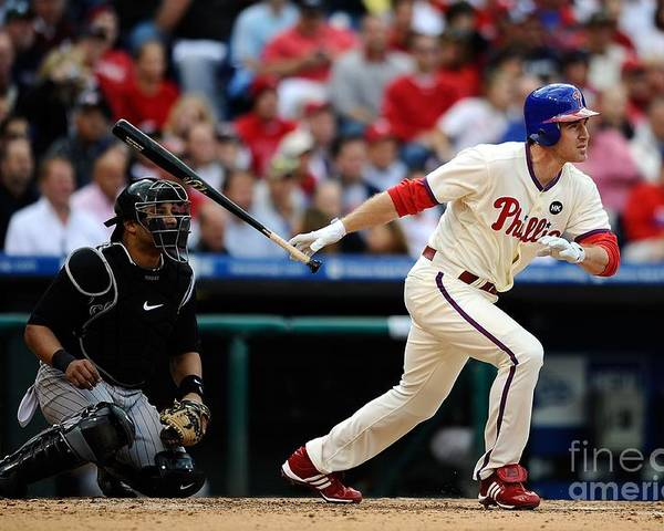 Playoffs Poster featuring the photograph Chase Utley by Jeff Zelevansky