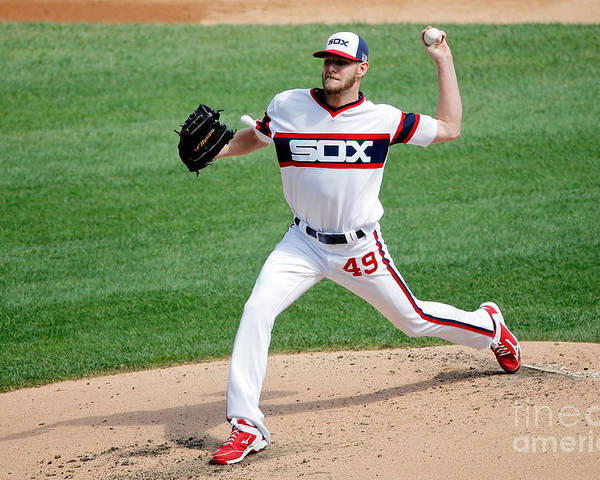 Second Inning Poster featuring the photograph Chris Sale by Jon Durr