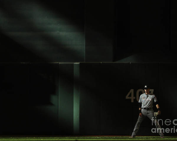 Ninth Inning Poster featuring the photograph Christian Yelich by Christian Petersen