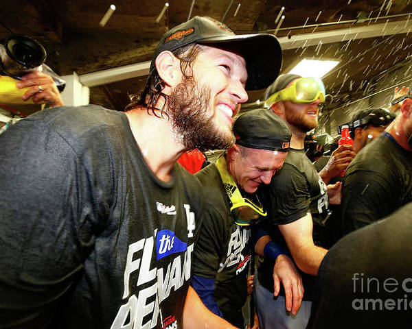 Championship Poster featuring the photograph Clayton Kershaw by Jamie Squire