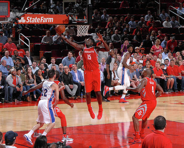 Nba Pro Basketball Poster featuring the photograph Clint Capela by Bill Baptist