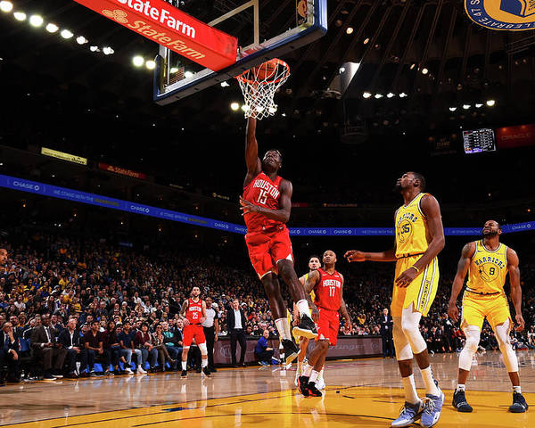 Nba Pro Basketball Poster featuring the photograph Clint Capela by Noah Graham