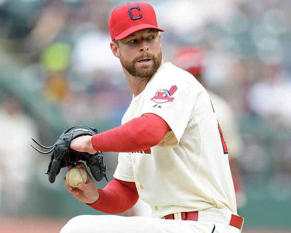 American League Baseball Poster featuring the photograph Corey Kluber by Jason Miller
