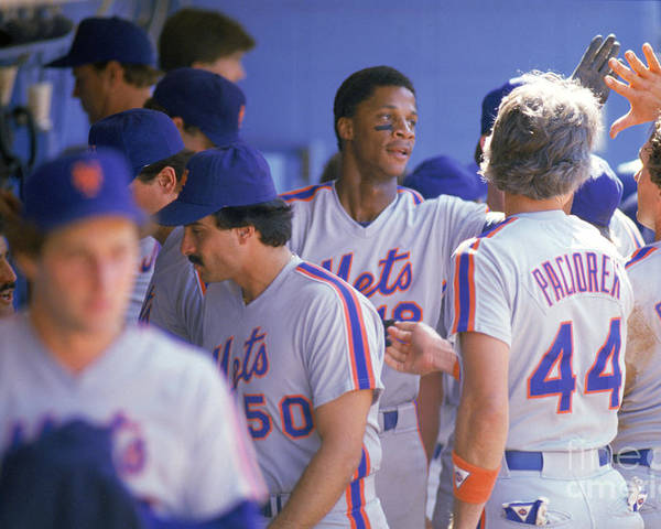 1980-1989 Poster featuring the photograph Darryl Strawberry by Andrew D. Bernstein