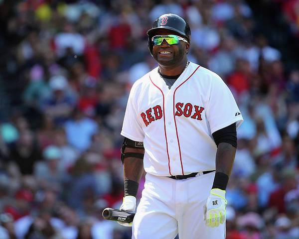 Three Quarter Length Poster featuring the photograph David Ortiz by Maddie Meyer