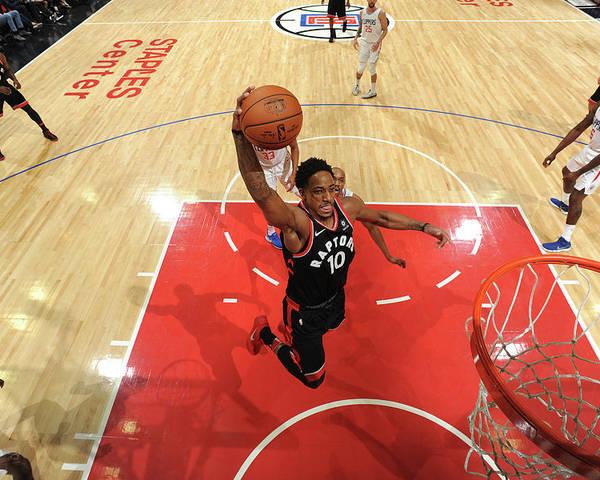Nba Pro Basketball Poster featuring the photograph Demar Derozan by Andrew D. Bernstein
