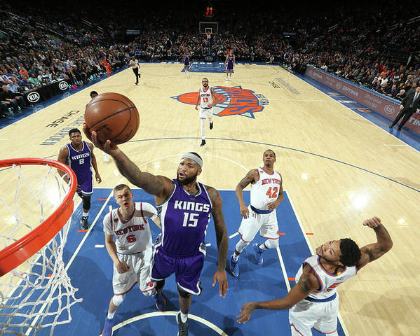 Nba Pro Basketball Poster featuring the photograph Demarcus Cousins by Nathaniel S. Butler