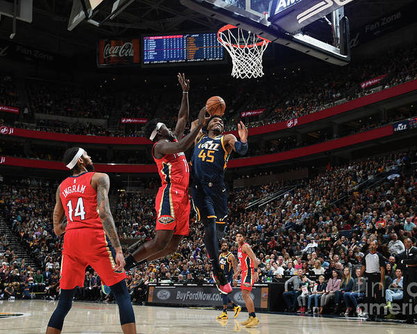 Nba Pro Basketball Poster featuring the photograph Donovan Mitchell by Noah Graham