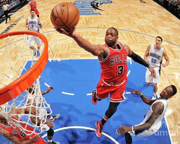 Nba Pro Basketball Poster featuring the photograph Dwyane Wade by Fernando Medina