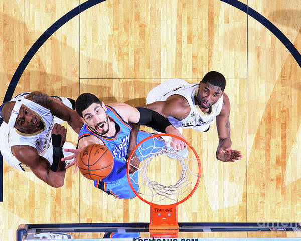 Smoothie King Center Poster featuring the photograph Enes Kanter by Layne Murdoch