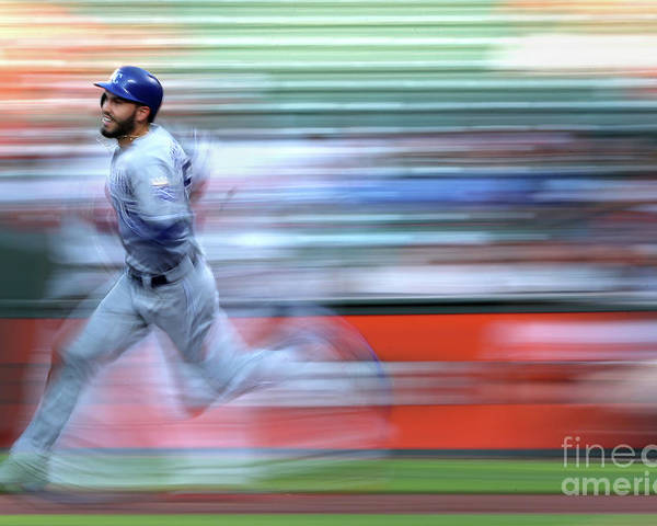 People Poster featuring the photograph Eric Hosmer by Patrick Smith